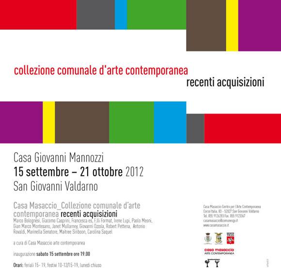 Collezione comunale d arte contemporanea casa masaccio for Nuove case contemporanee