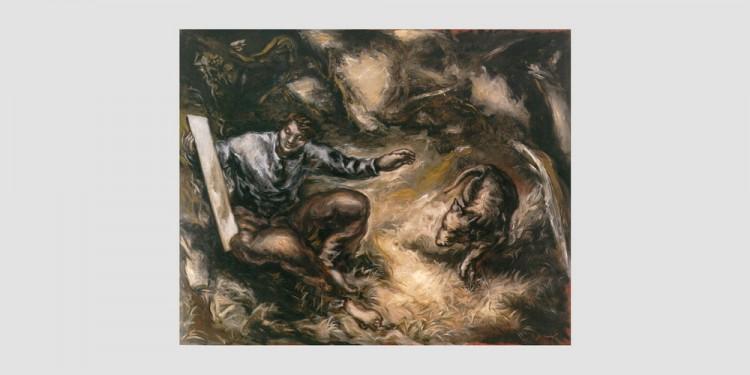 Gérard-Garouste-Le-classique-le-miroir-et-le-chien1982