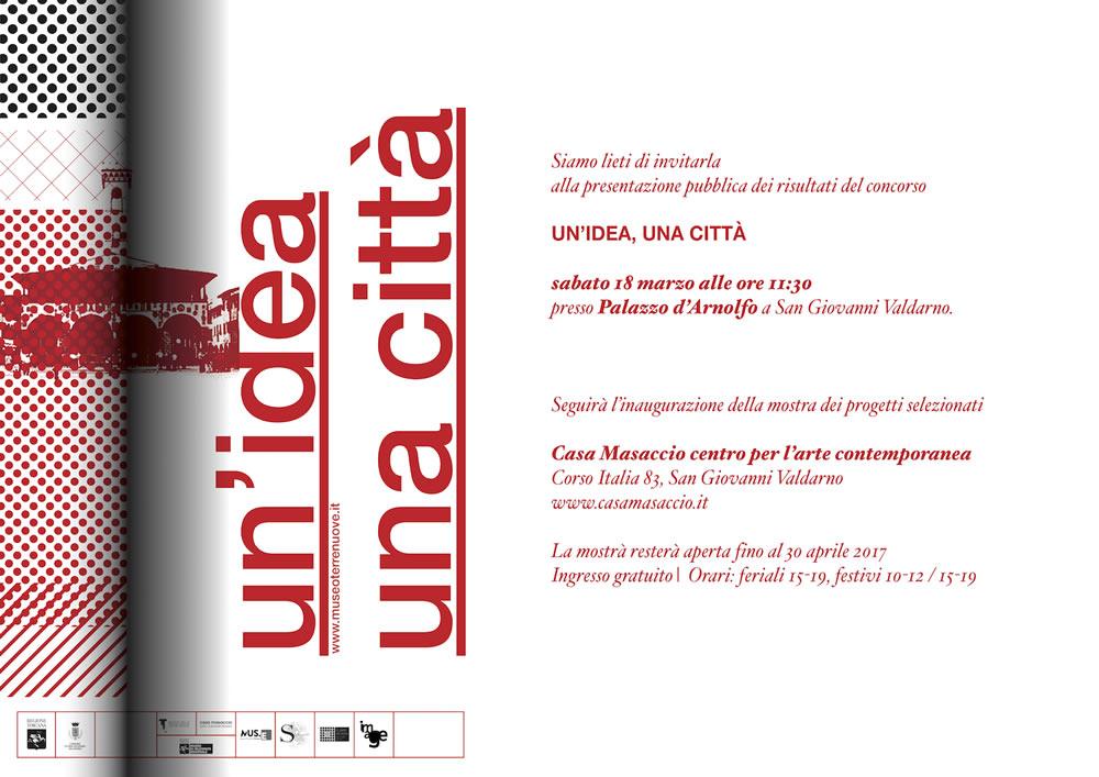 UN_IDEA, UNA CITTA - invito mostra Casa Masaccio2