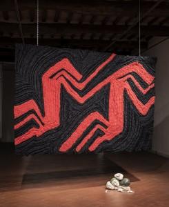 33. Entro dipinta gabbia. Enzo Cucchi, Enrico David. Casa Masaccio centro per l'arte contemporanea. Exhibition view. Foto OKNOstudio