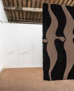 41. Entro dipinta gabbia. Enzo Cucchi, Enrico David. Casa Masaccio centro per l'arte contemporanea. Exhibition view. Foto OKNOstudio