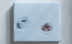 33_Lee Kit, Still life, 2018. Acrilico, emulsione, inchiostro inkjet e matita su cartone. Courtesy l'artista e galleria Massimo De Carlo, MilanoLondraHong Kong.