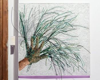 11_Cinzia Ruggeri, Fili, 2019, Ravenna mosaic and copper wires, 50 x 50 cm, ph OKNOstudio