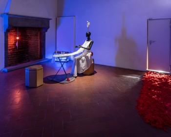 27_Cinzia Ruggeri, Casa Masaccio Centro per l'Arte Contemporanea, installation view dining room, first floor entrance on the left side, ph OKNOstudio
