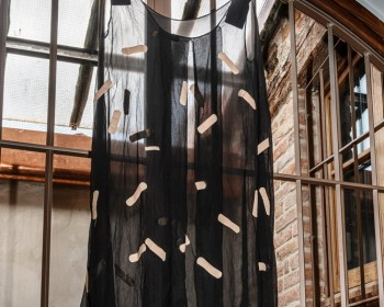 45_Cinzia Ruggeri, Christine, 2019, crêpe dress and band-aids, dimensions variable, ph OKNOstudio