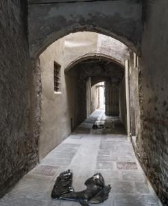 2. Entro dipinta gabbia. Enzo Cucchi, Enrico David. Casa Masaccio centro per l'arte contemporanea. Exhibition view. Foto OKNOstudio
