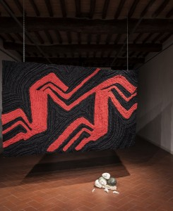 32. Entro dipinta gabbia. Enzo Cucchi, Enrico David. Casa Masaccio centro per l'arte contemporanea. Exhibition view. Foto OKNOstudio