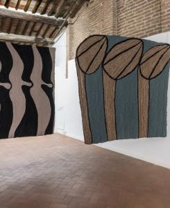 39. Entro dipinta gabbia. Enzo Cucchi, Enrico David. Casa Masaccio centro per l'arte contemporanea. Exhibition view. Foto OKNOstudio