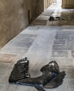 4. Entro dipinta gabbia. Enzo Cucchi, Enrico David. Casa Masaccio centro per l'arte contemporanea. Exhibition view. Foto OKNOstudio