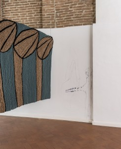 42. Entro dipinta gabbia. Enzo Cucchi, Enrico David. Casa Masaccio centro per l'arte contemporanea. Exhibition view. Foto OKNOstudio