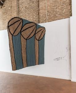 44. Entro dipinta gabbia. Enzo Cucchi, Enrico David. Casa Masaccio centro per l'arte contemporanea. Exhibition view. Foto OKNOstudio