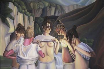 Beatrice Marchi, Le Amiche, olio e acrilico su tela, 170 x 140 cm