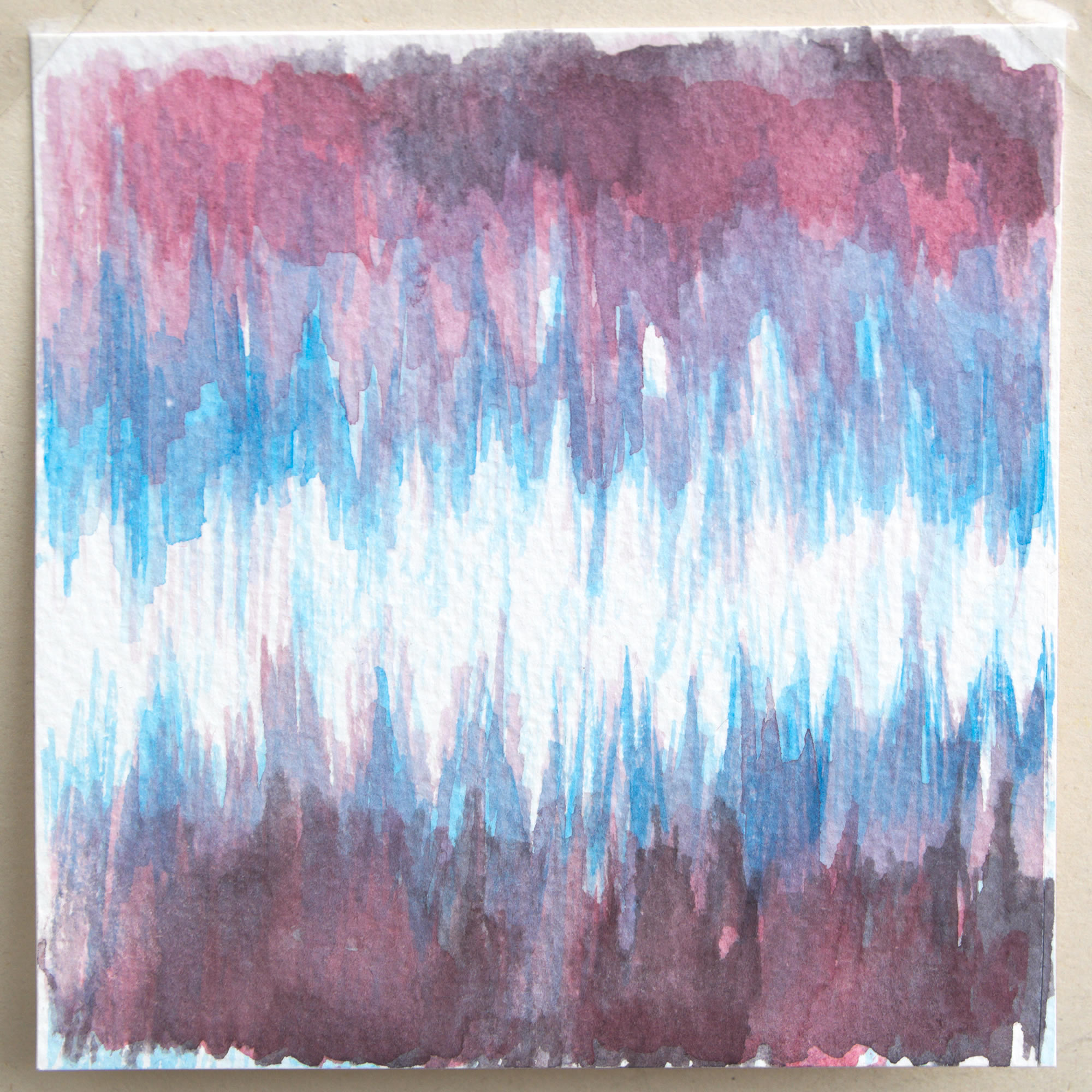 Colori patologici, 2020, acquerello su carta, 10,7 x 10,9 cm