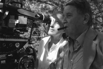 Jean-Marie Straub e Danièle Huillet sul set di Quei loro incontri_Buti_2005_ PhMarion Befve